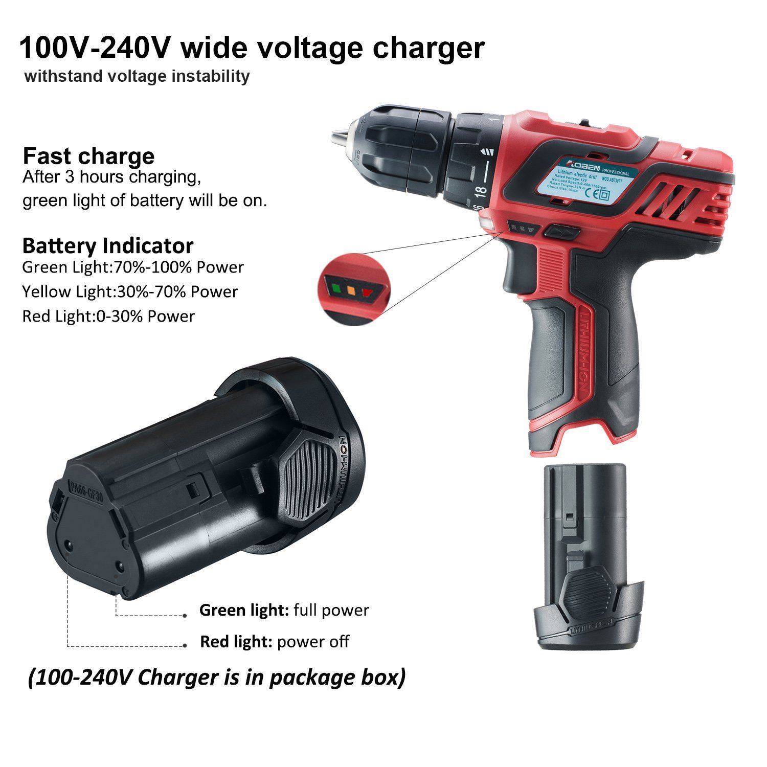 Aoben 12v Max Cordless 3 8inch Drill Driver Kit Ab7307t 2speed Lightweight With 2 Lithiumion Batteries Charger Drill Set For Men Wome Women Diy Drill Set Drill