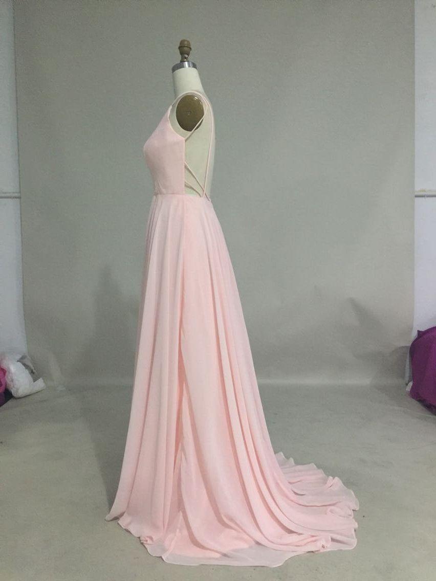 Sexy chiffon floor length spaghetti dress prom formal dresses and