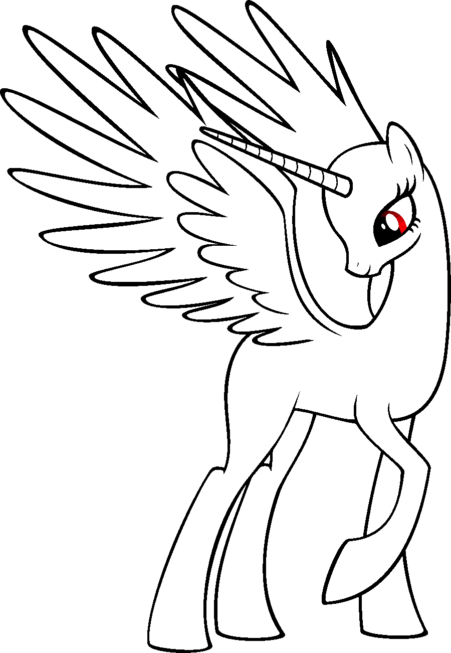 My little pony coloring pages bases - Mlp Princess Base By Randomdraggon Deviantart Com On