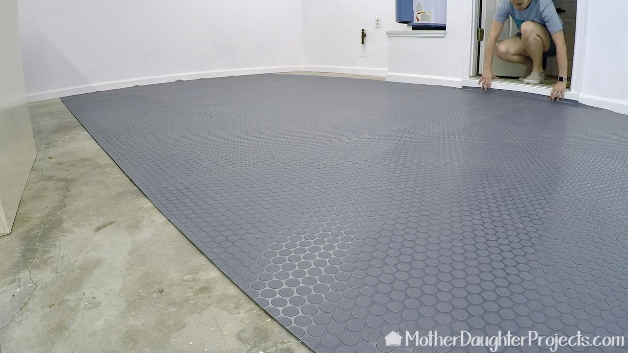 Diy Vinyl Garage Flooring In 2020