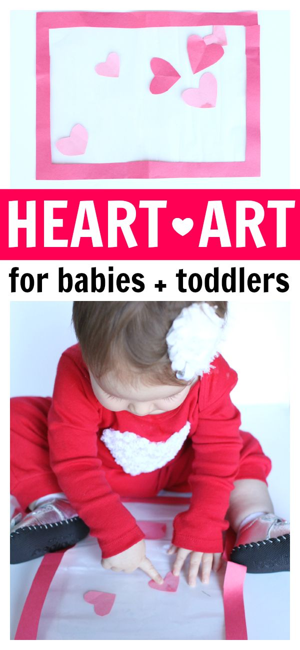 Heart Art For Babies And Toddlers Valentines Day Pinterest