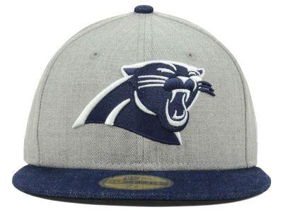half off cc4d6 fef34 Carolina Panthers NFL Topp d Up Denim New Era 59fifty, New Era Fitted,