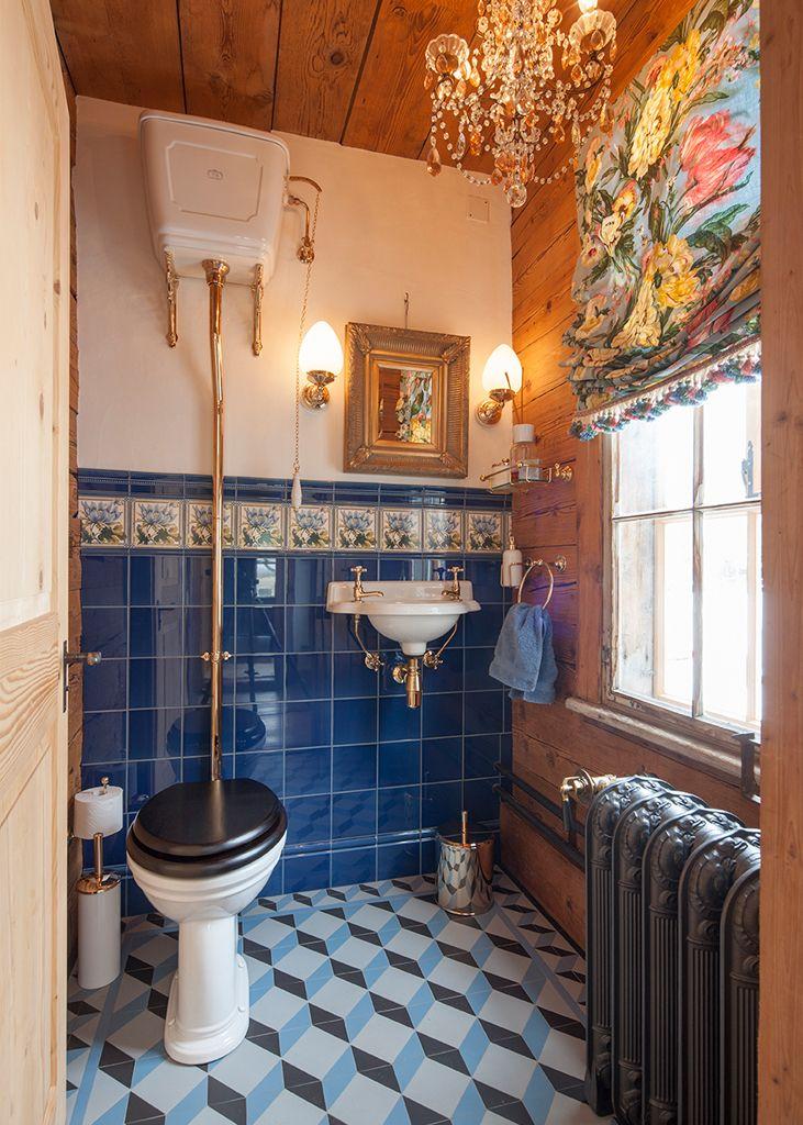 Retro Gäste WC – TRADITIONAL BATHROOMS retro badezimmer  ...