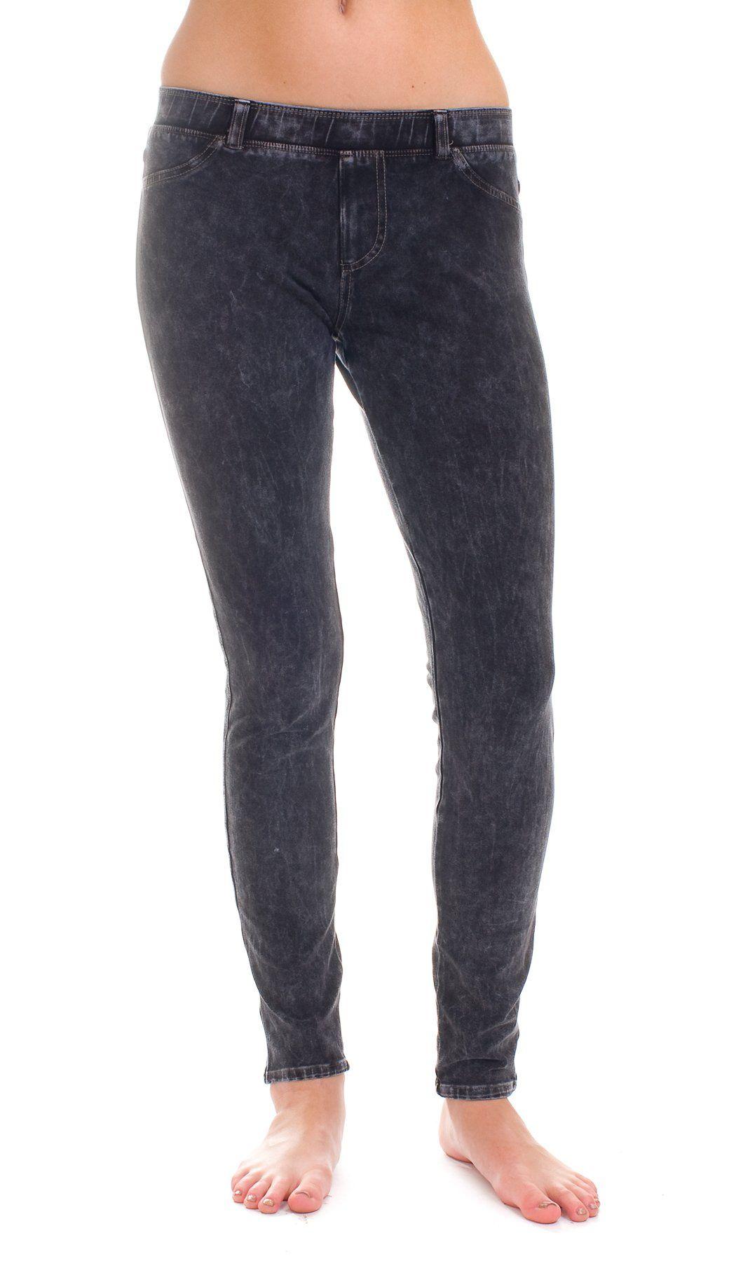61b0ec8da6 Hard Tail denim wash leggings (charcoal) (small). 90% cotton/10 ...