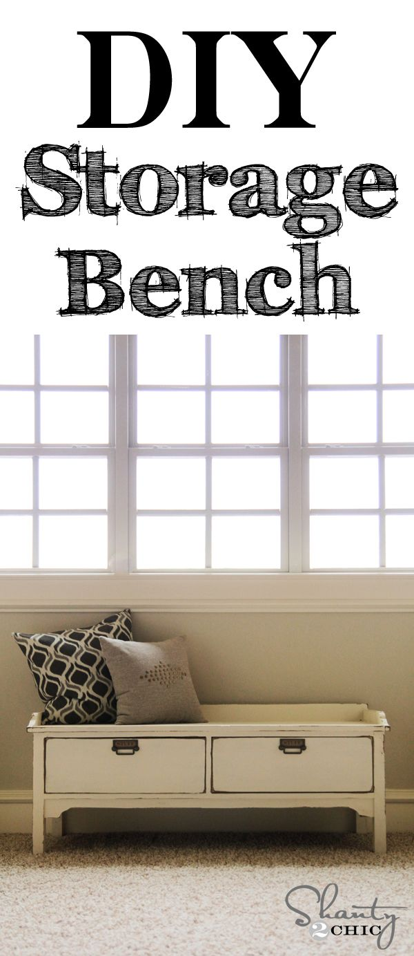Pottery Barn Knockoff Bench Pottery Storage Benches And Tutorials