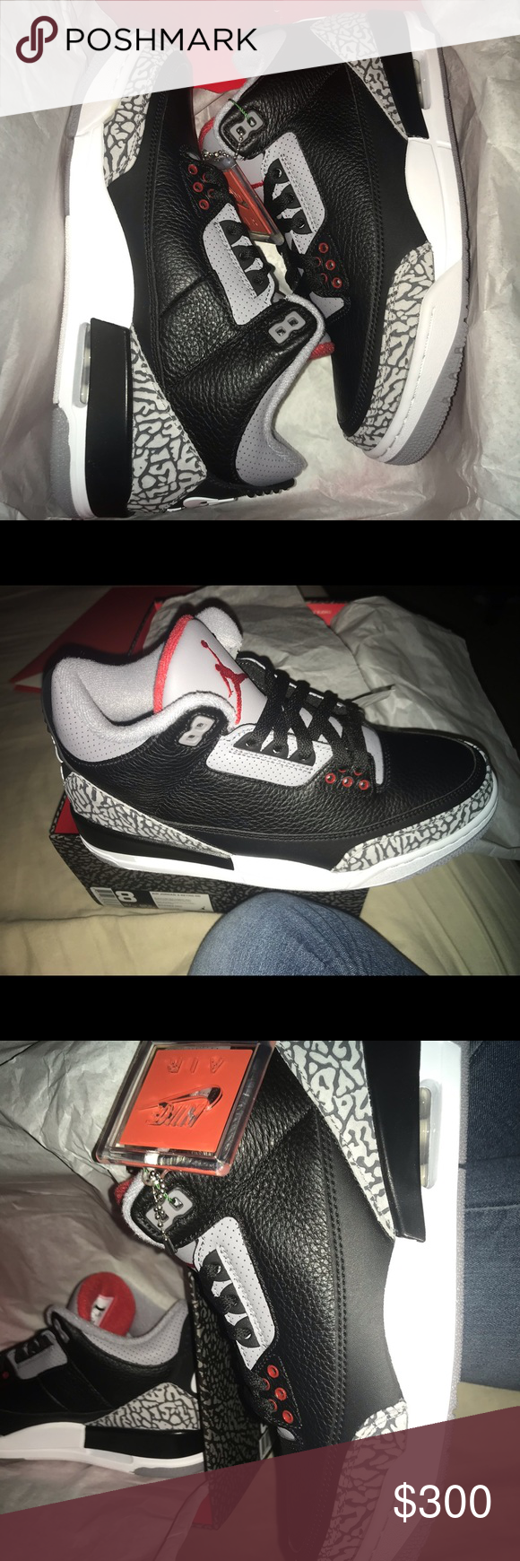 quality design 86c9e 89d23 Jordan Retro 3 Cement Mens size 8. Never been worn and ...