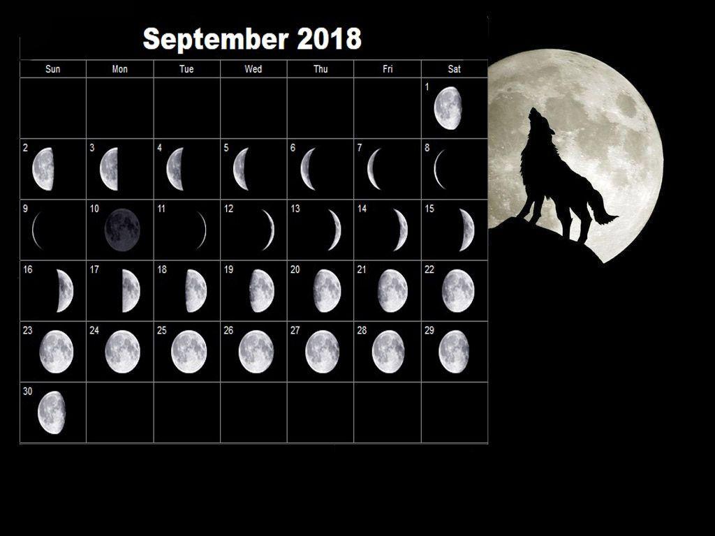 September Moon Calendar New Lunar Phases