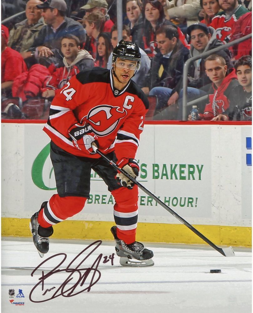 finest selection 8f598 753b6 Bryce Salvador New Jersey Devils Signed Red Jersey w/ Puck ...