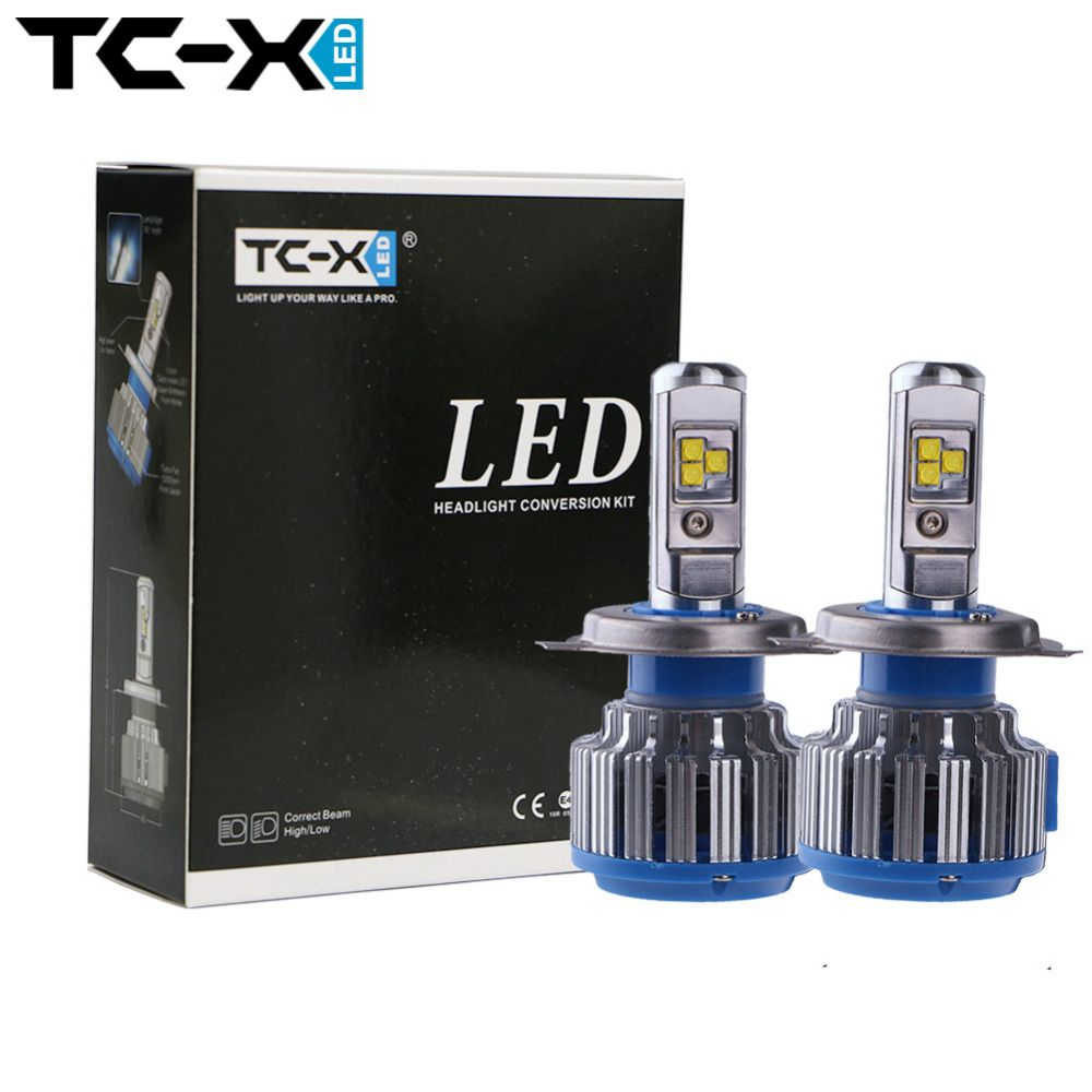 Tc X H4 Car Led Headlight Kit H4 3 9003 Hb2 Hi Low Bi Xenon Headlights Auto Front Bulbs 6000k 12v Car Lighti Led Headlights Cars Car Headlight Bulbs Car Lights