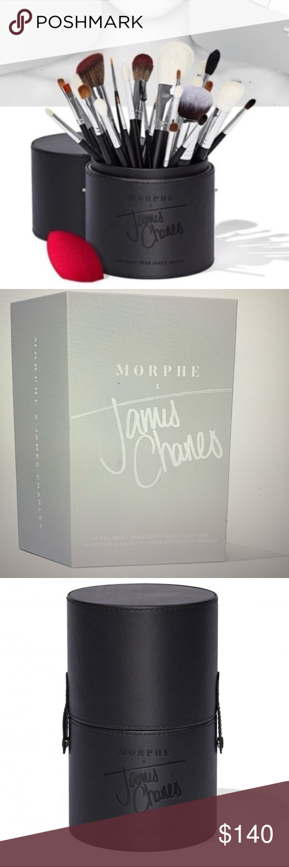 New in box James Charles brush set Boutique James
