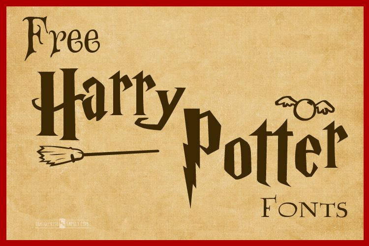 Free Doctor Who Fonts Use For Birthday Party Invitations Geek T Shirt Design Scrapbook Pages Projects And More Harry Potter