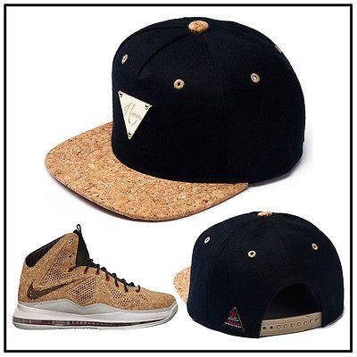 69cdd9631cf9  Hater Snapback  CORK Brim Snapback Hat Cap For Lebron 10 12 ext King s  Cork QS