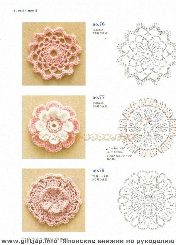 crochet flower diagrams plus plenty more on site. | Crochet ...