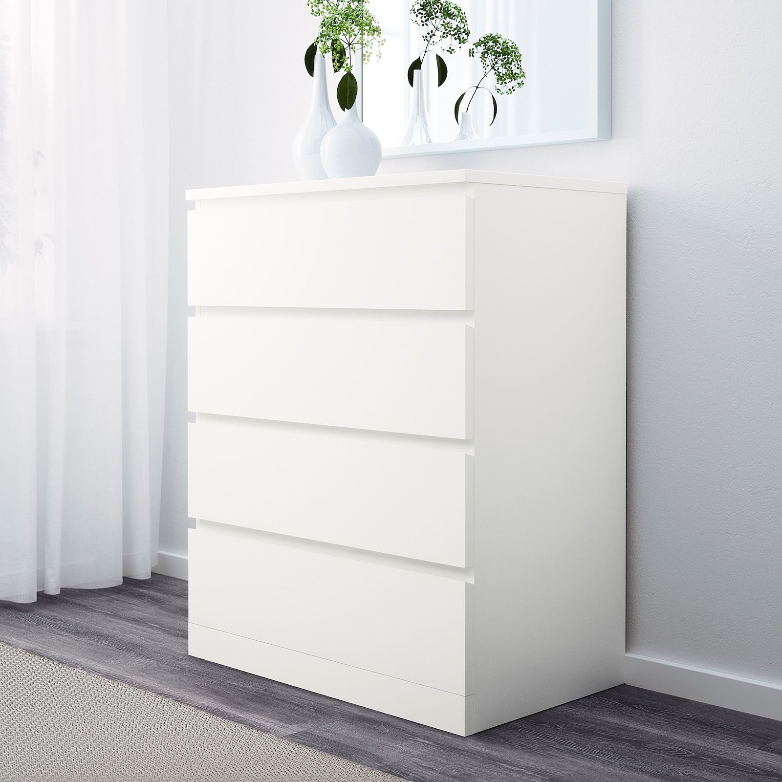 Malm 4 Drawer Chest White 31 1 2x39 3 8 Ikea In 2020 Ikea