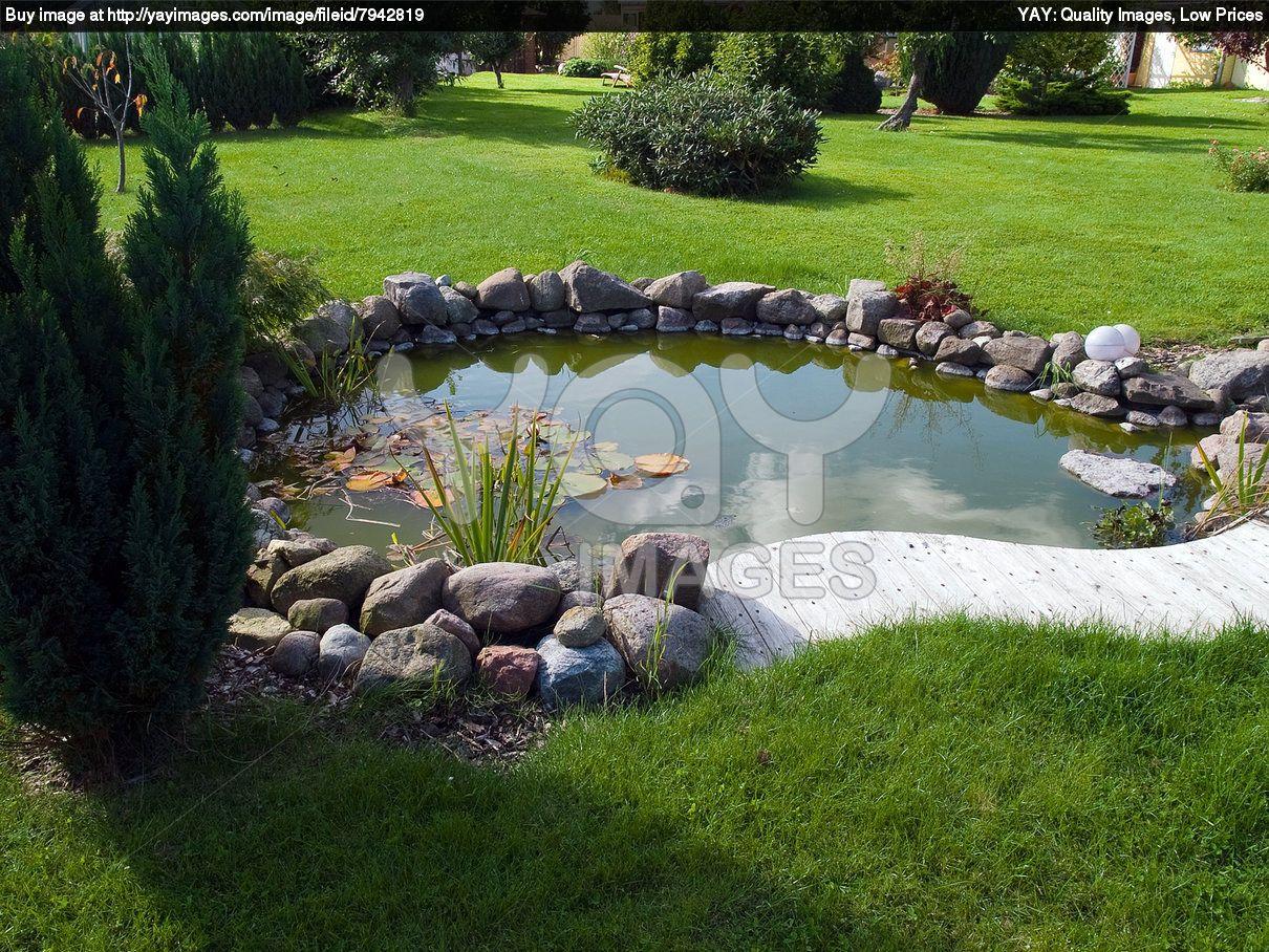 Love The Wood Mini Deck Small Garden Ponds Pinterest