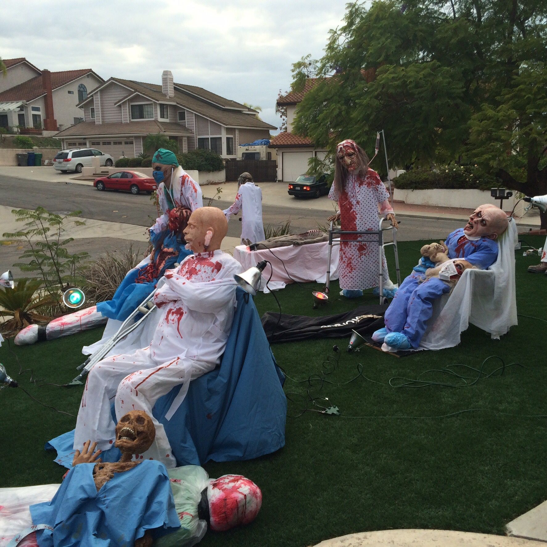 Yard Display Halloween Daytime Pic