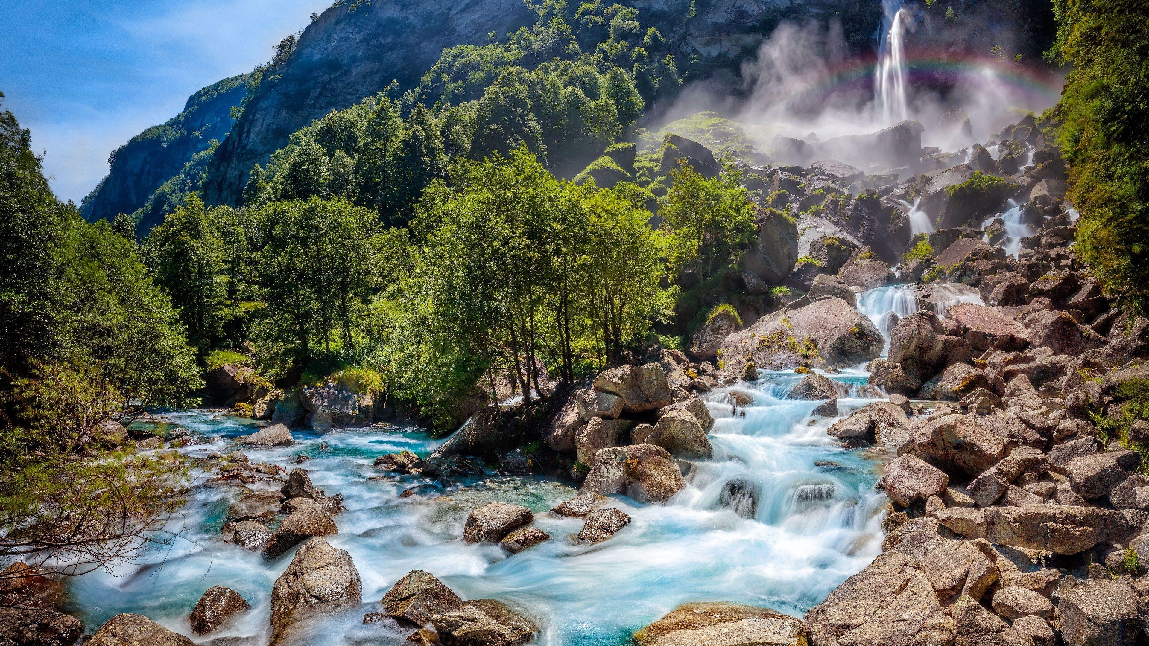 Desktop Mobile Ultra Fine Hd Quality Green Nature Waterfall Ticino Plitvice Lakes
