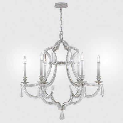 Fine Art Lamps Prussian Neoclassic 6 Light Candle-Style Chandelier Finish: Silver Gray