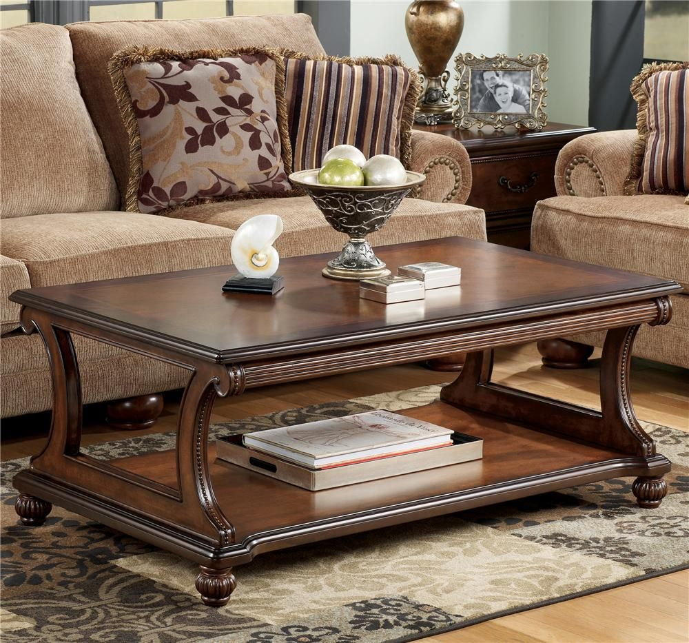 Ashley Furniture Vt: Shelton Traditional Rectangular Cocktail Table