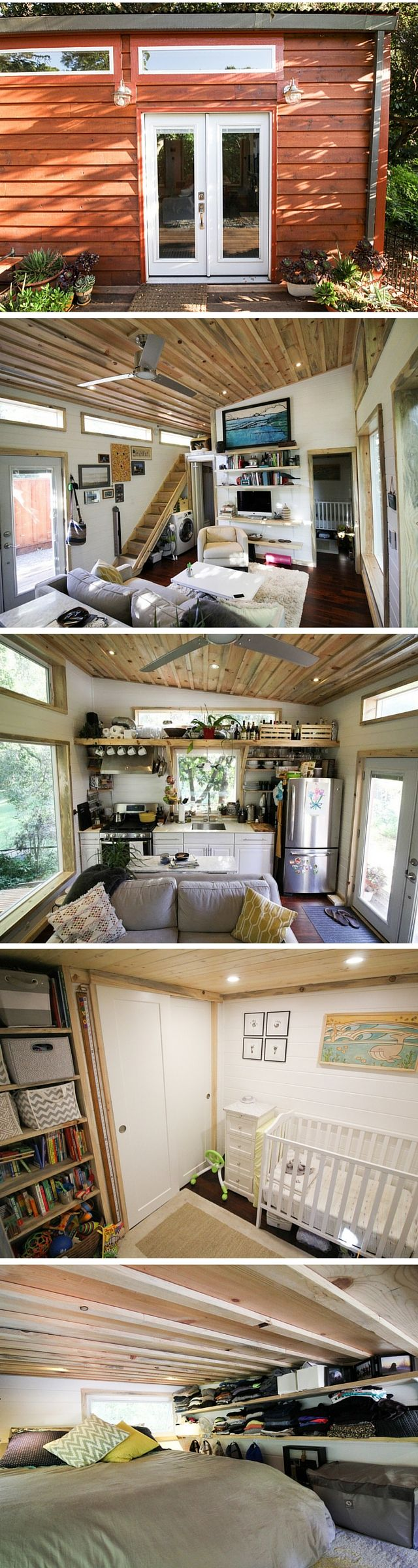 a 400 sq ft cabin with two rooms! the home is also a certified