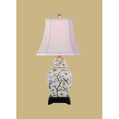 "East Enterprises Inc 23"" H Jar Table Lamp with Bell Shade"