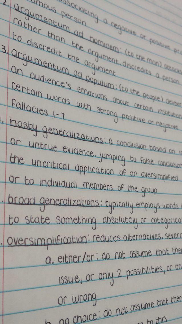 good handwriting and good grades