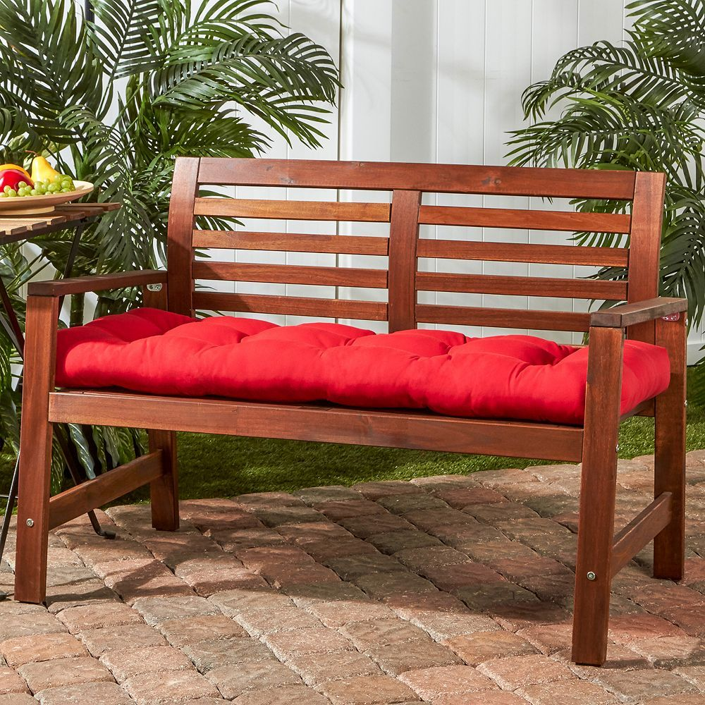 Greendale Home Fashions 46 In Outdoor Swing Bench Cushion Porch Swing House Styles Bench Cushions