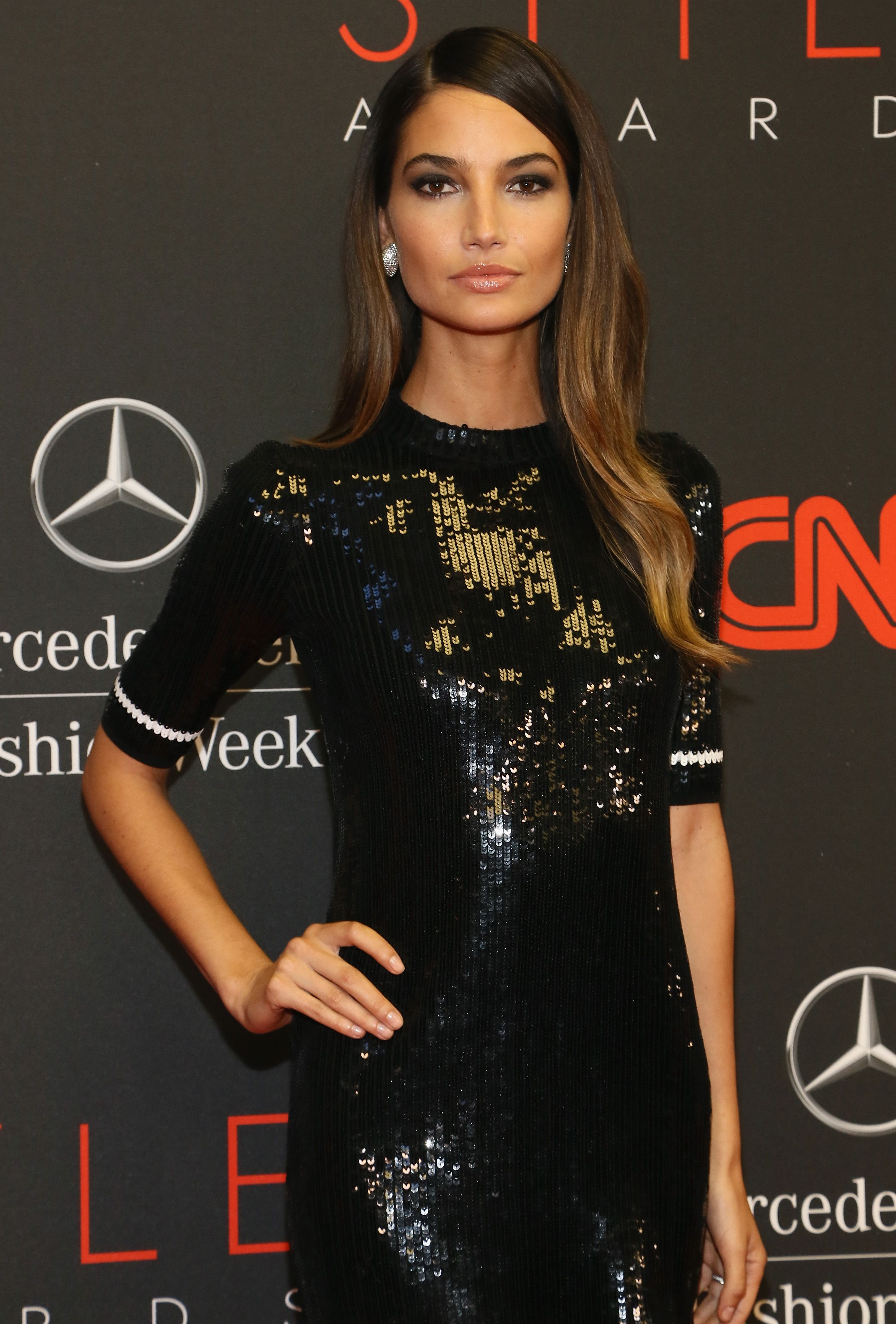 Lily aldridge style awards at lincoln center in nyc sept