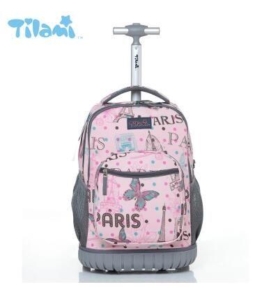 fa8598b761 Kids Rolling Luggage Backpacks Kid School Backpacks with wheels kid  suitcase children luggage Wheeled backpacks bag