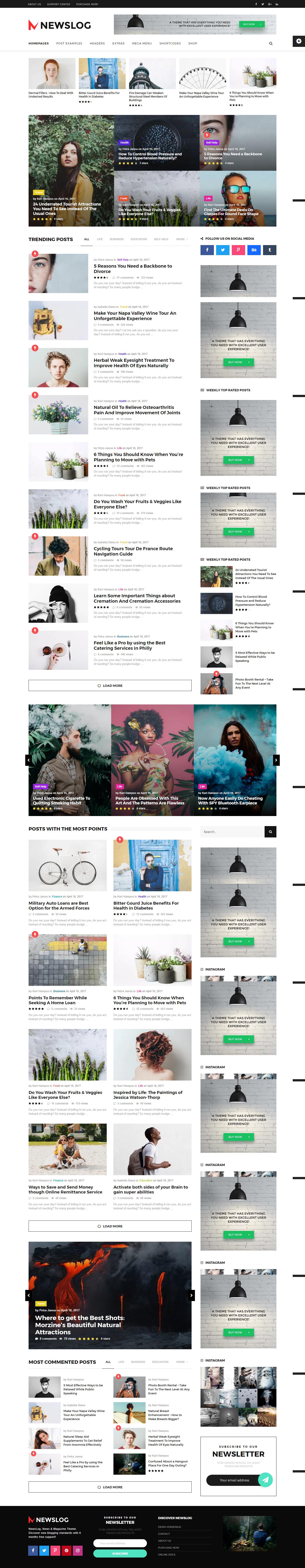 Newslog - Clean News & Magazine WordPress Theme | Blog templates ...