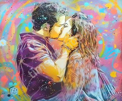 Яркие краски любви, картина раскраска по номерам, размер ...