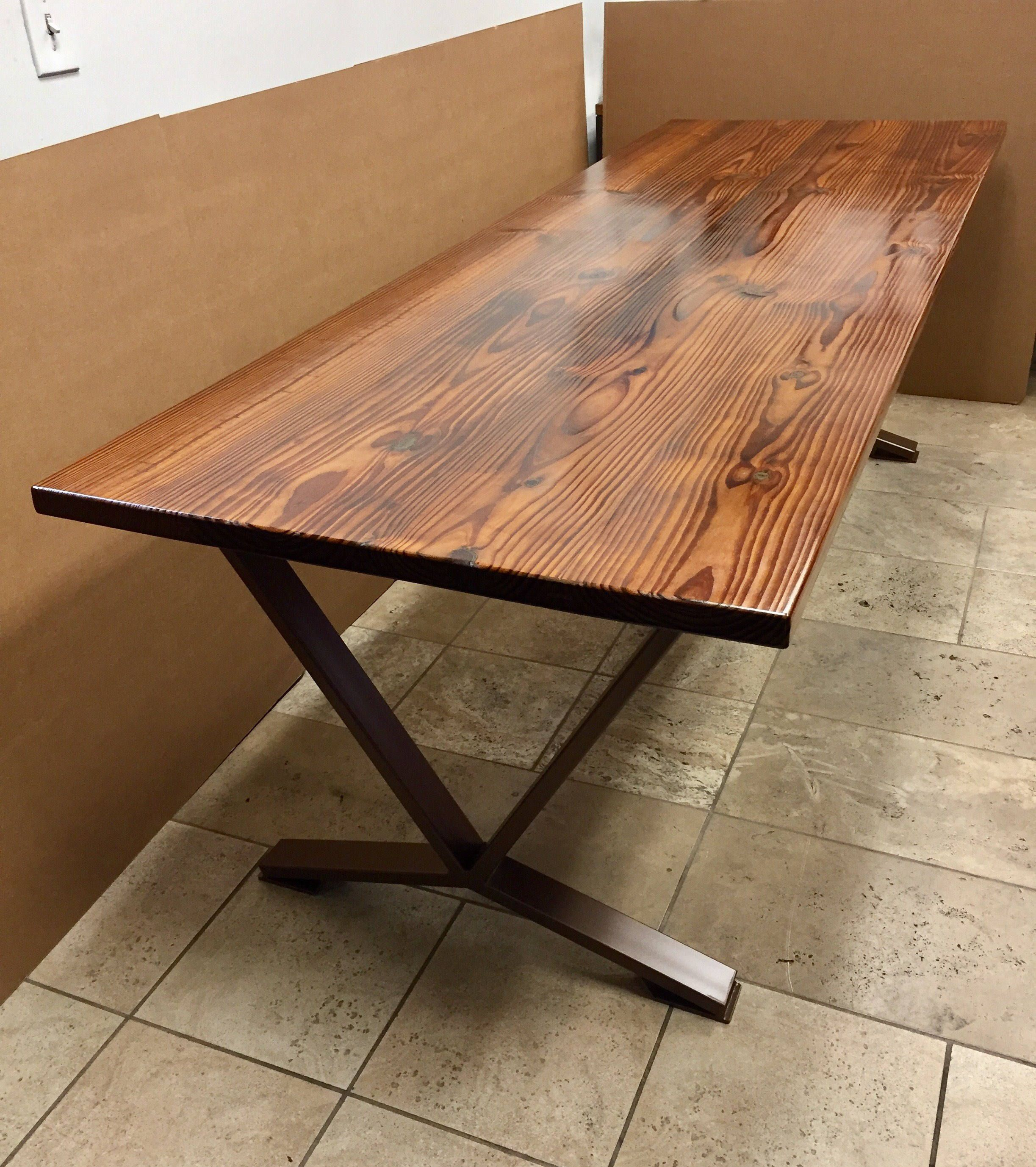 Modern Heat Threaded Pine Table