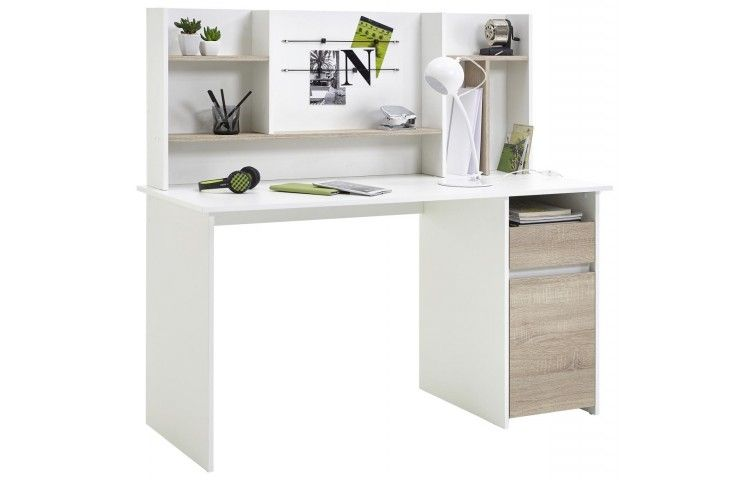 Schreibtisch Weiss Sonoma Eiche Nachbildung Ca 135 X 130 X 55 Cm Bei Poco De Schreibtischideen Buro Arbeitsplatz Schreibtisch Weiss