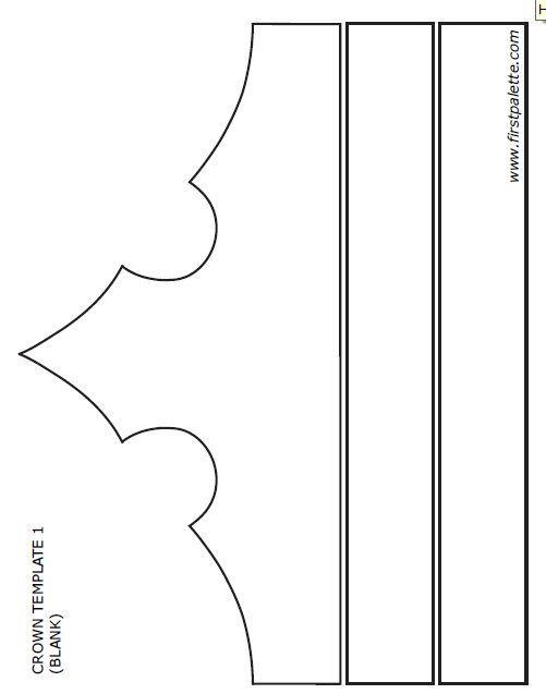Resultado de imagen de molde de corona de princesa Diademas - birth chart template