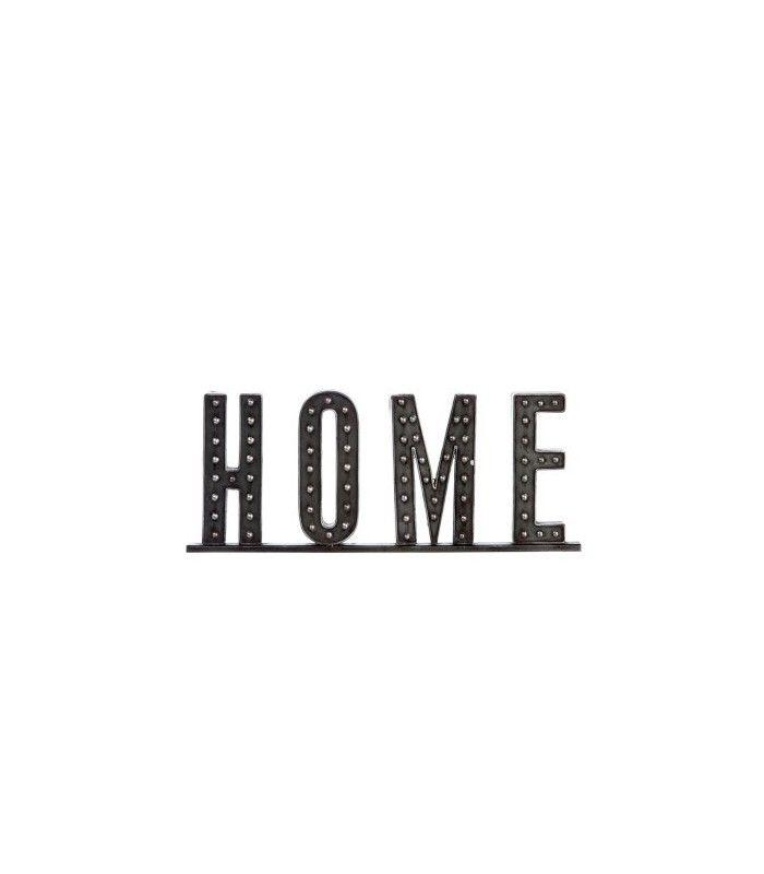 lettres d coratives poser home en m tal clout noir. Black Bedroom Furniture Sets. Home Design Ideas