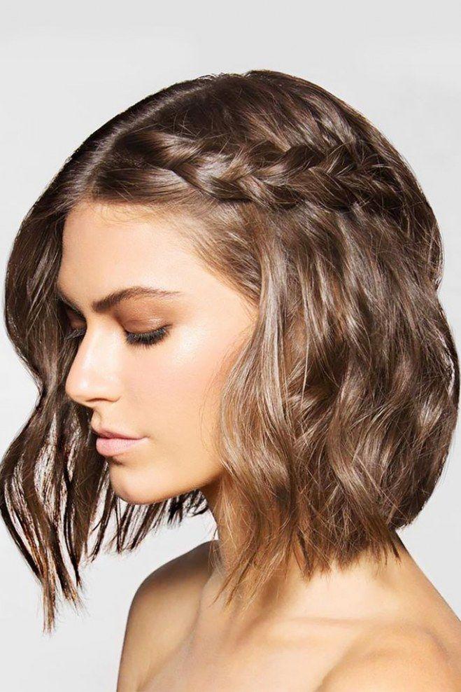 Frisuren Fur Kurze Haare Hair Pinterest Schulterlanges Haar