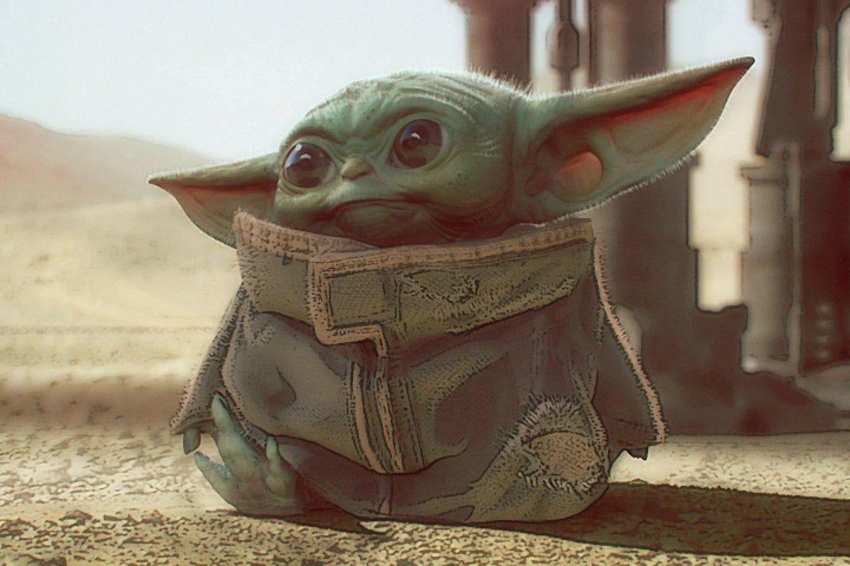 Poster Baby Yoda The Madalorian 27x41 Yoda Art Yoda Wallpaper Star Wars Yoda
