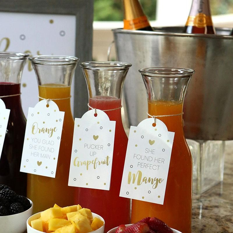Mimosa Bar 10 Piece Kit Classic In 2020 Bubbly Bridal Shower Wedding Shower Brunch Bridal Shower Brunch