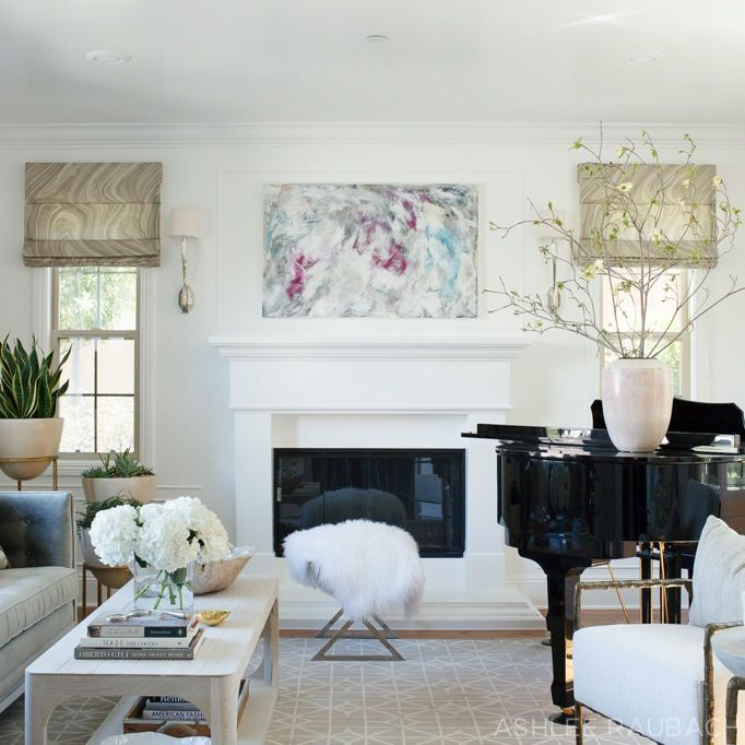 Neutral Modern Living Room Owens And Davis Piano Living Rooms
