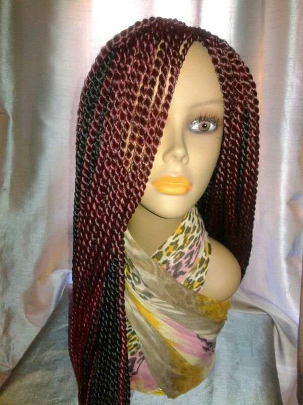 burgundy senegalese twist