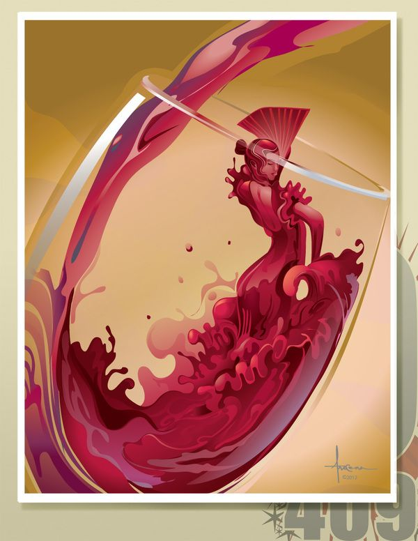 Pin By M Habib On Cool Digital Illustration Wine Advertising