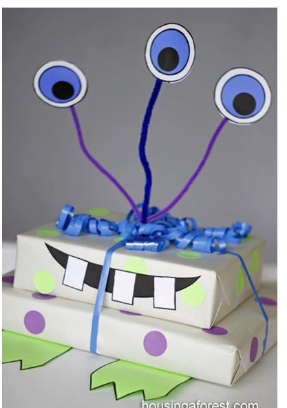 Envoltura de regalos para niños que lo hace un poco más divertido