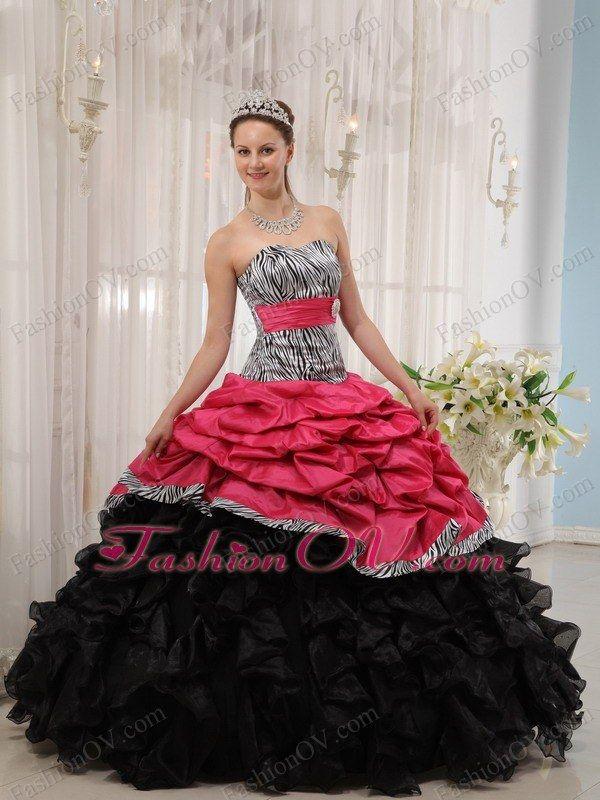 Hot Pink Zebra Wedding Ceremony Dresses For Wonderful Bridal Seem ...