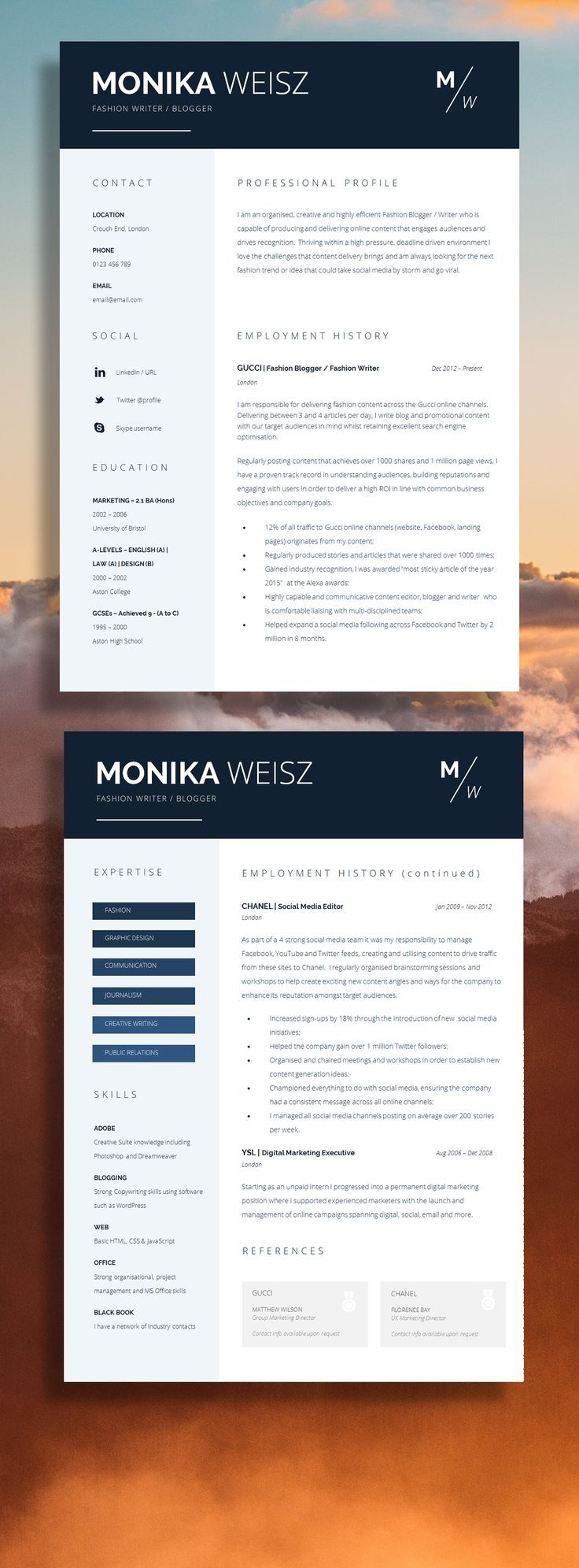 How To Make A Resume Stand Out Modern Resume Template  Professional Resume Template  Modern Cv .