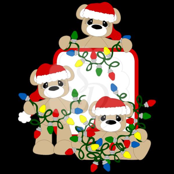 All Tangled Up 2014 bears christmas lights santahat