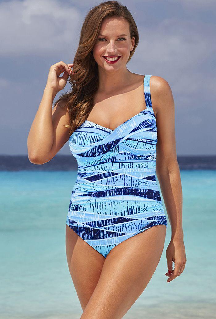 e36ee78cb28 Shore Club Blue Crush Twist-Front Swimsuit