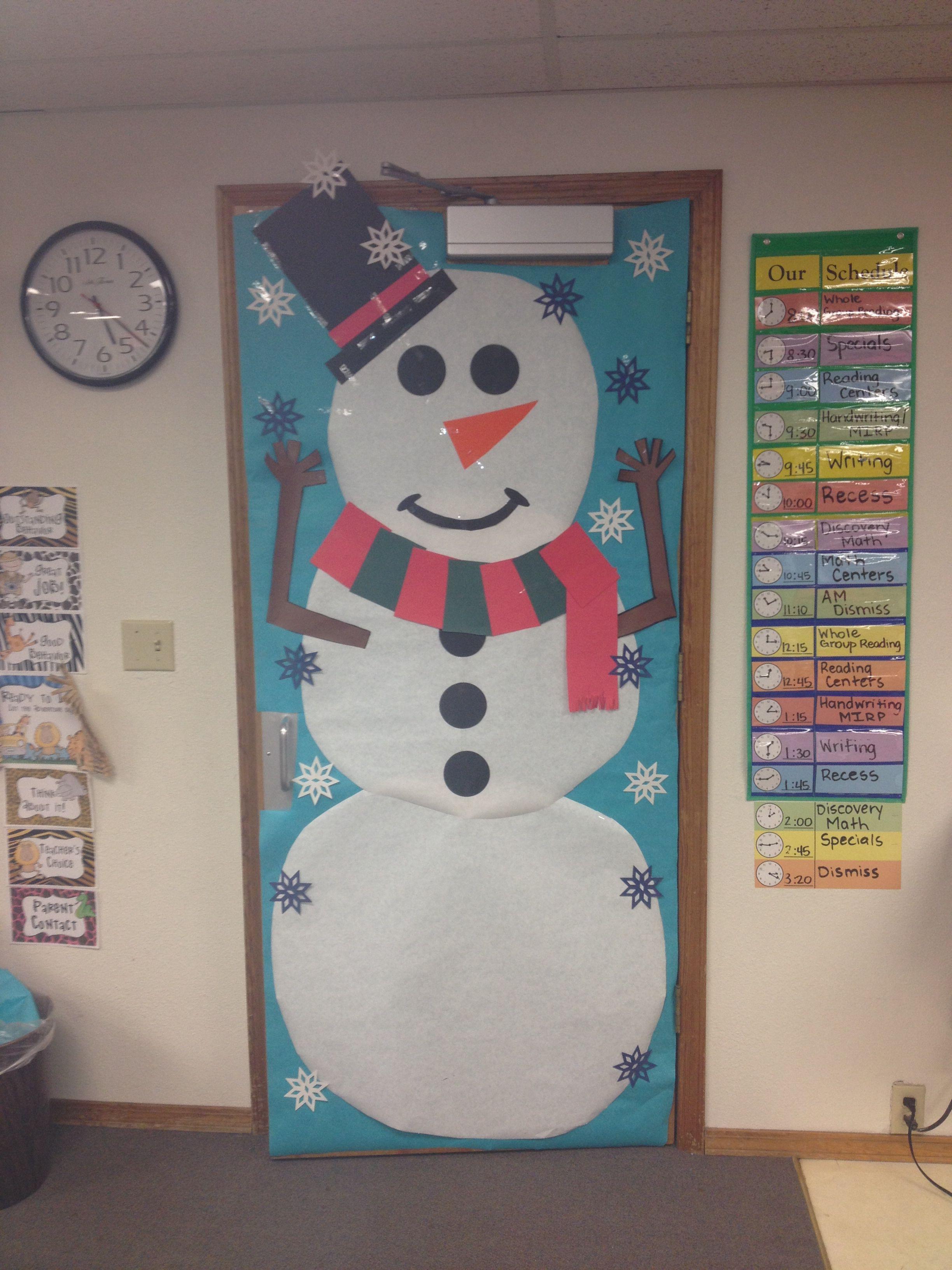 Snowman Classroom Door Classroom Door School Doors