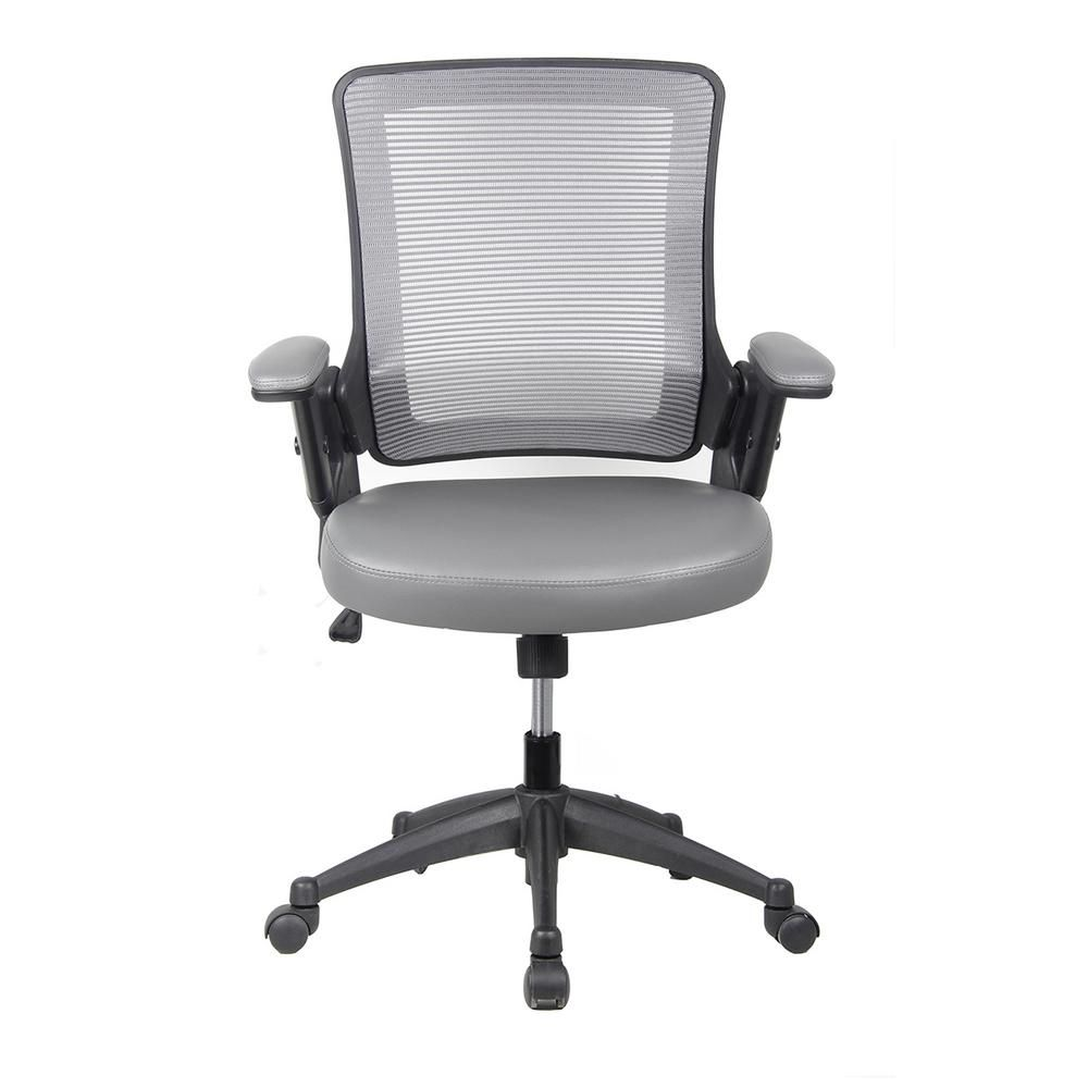 Techni Mobili Gray Mid Back Mesh Task Office Chair With