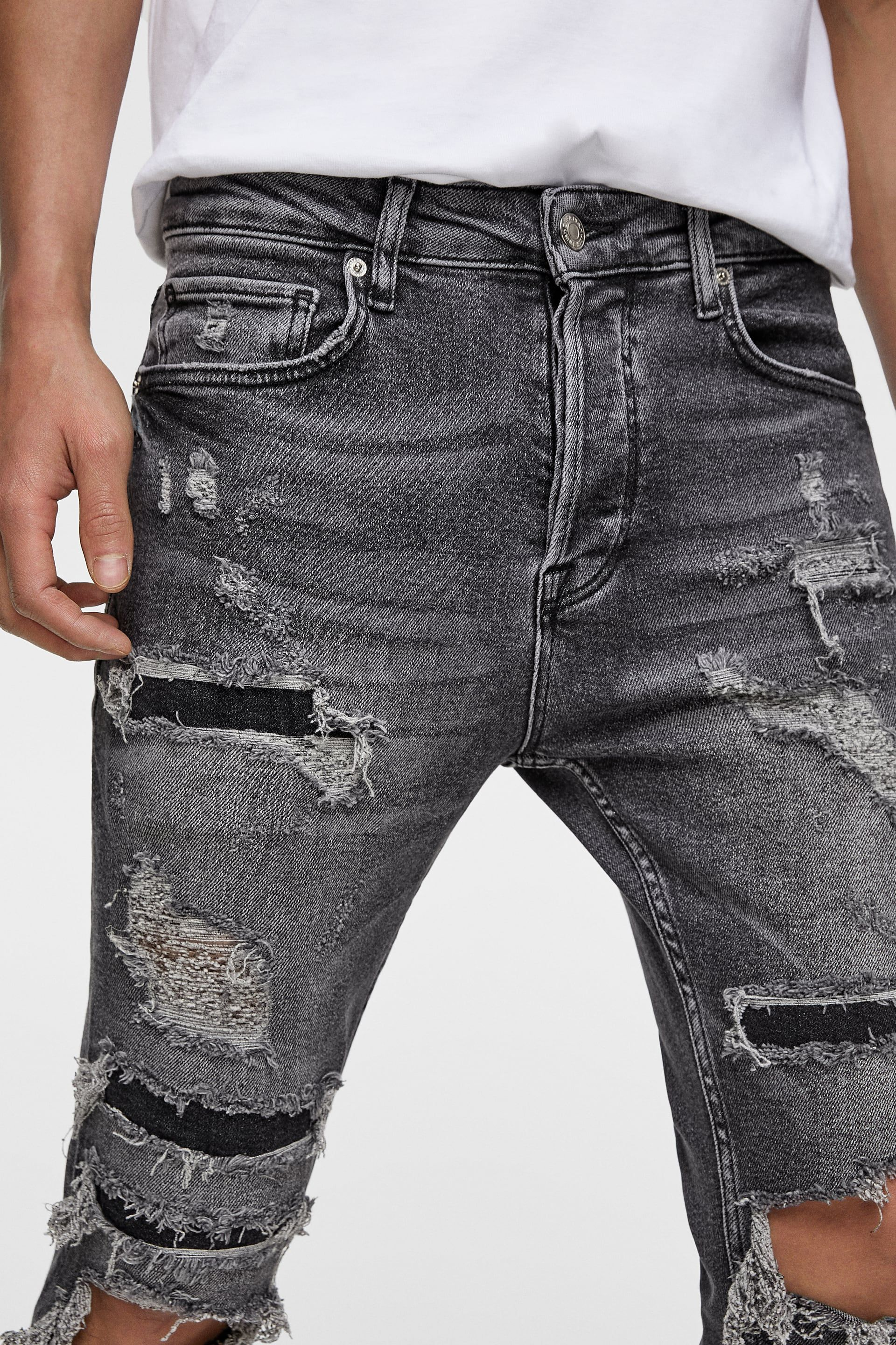 Ripped Skinny Jeans View All Jeans Man Zara United States