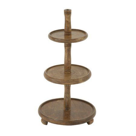 Home Serving Tray Decor Tiered Stand Wood Tray